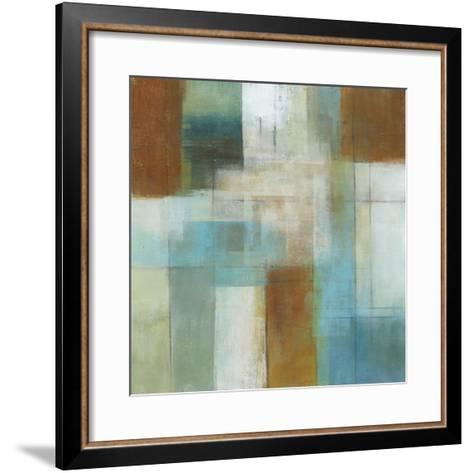 Lake Blue Essence I-W^ Green-Aldridge-Framed Art Print