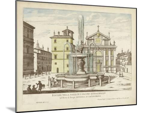 Fountains of Rome I-Vision Studio-Mounted Giclee Print