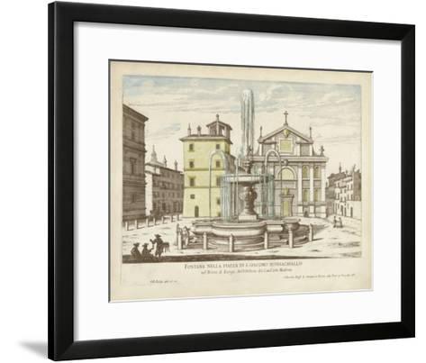 Fountains of Rome I-Vision Studio-Framed Art Print