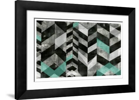 Chevron Exclusion I-Jennifer Goldberger-Framed Art Print