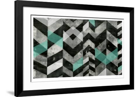 Chevron Exclusion II-Jennifer Goldberger-Framed Art Print