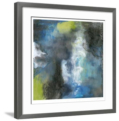 Peace of Mind in Blue I-Ferdos Maleki-Framed Art Print