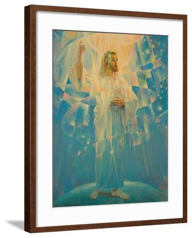Jesus Christ - Thine is the Power-Warner Sallman-Framed Art Print