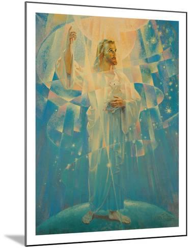 Jesus Christ - Thine is the Power-Warner Sallman-Mounted Giclee Print