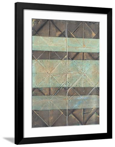 Embossed Patina II-Vanna Lam-Framed Art Print