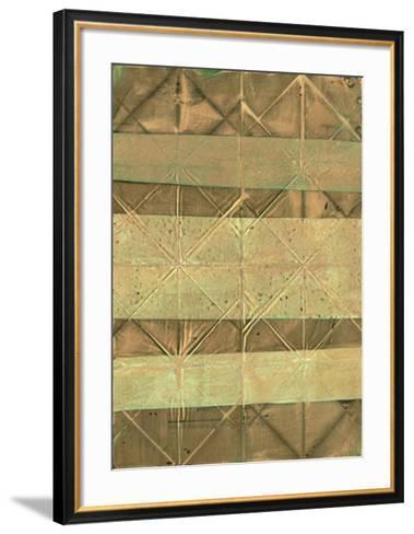 Embossed Patina III-Vanna Lam-Framed Art Print