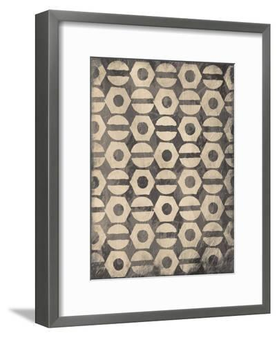 Pattern Gray-Jace Grey-Framed Art Print