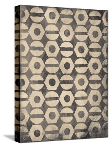 Pattern Gray-Jace Grey-Stretched Canvas Print