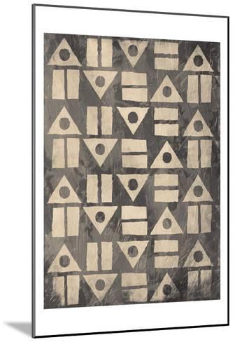 Pattern Mate Gray-Jace Grey-Mounted Art Print