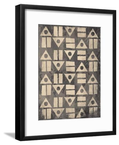 Pattern Mate Gray-Jace Grey-Framed Art Print