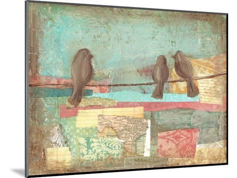 Bird on Wire Collage 3-Erin Butson-Mounted Art Print