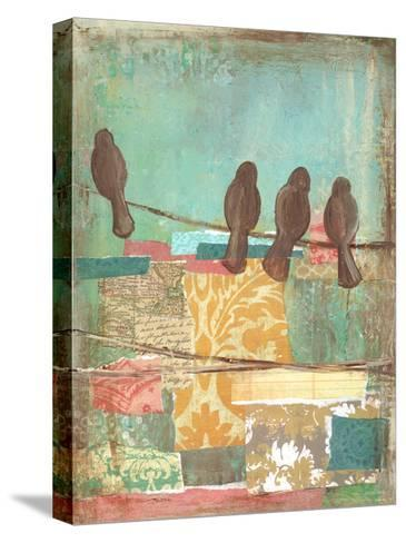 Bird on Wire Collage 4-Erin Butson-Stretched Canvas Print
