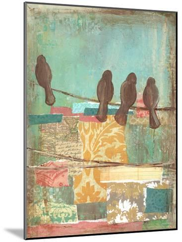 Bird on Wire Collage 4-Erin Butson-Mounted Art Print