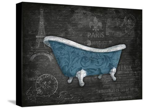 Blue Bath-Jace Grey-Stretched Canvas Print