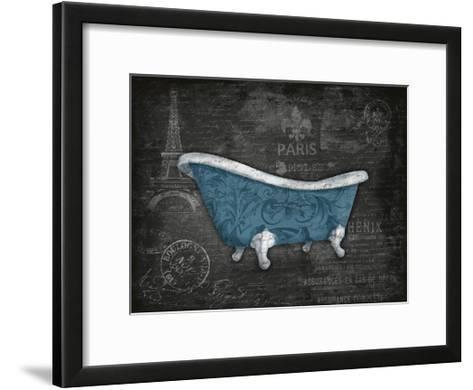 Blue Bath-Jace Grey-Framed Art Print