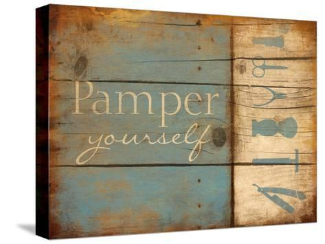 Pamper Yourself-Jace Grey-Stretched Canvas Print