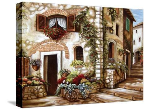 Italian Alley II-Nora St. Jean-Stretched Canvas Print