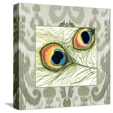 Peacock Tile 2-Anne Ormsby-Stretched Canvas Print