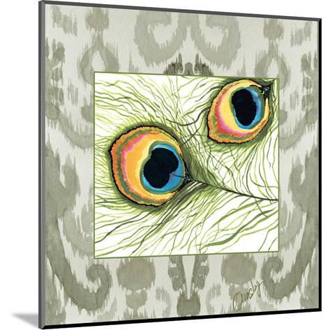 Peacock Tile 2-Anne Ormsby-Mounted Art Print