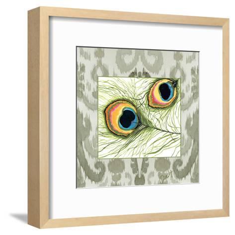 Peacock Tile 2-Anne Ormsby-Framed Art Print