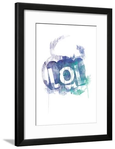 Watercolor LOL Reverse-Jace Grey-Framed Art Print