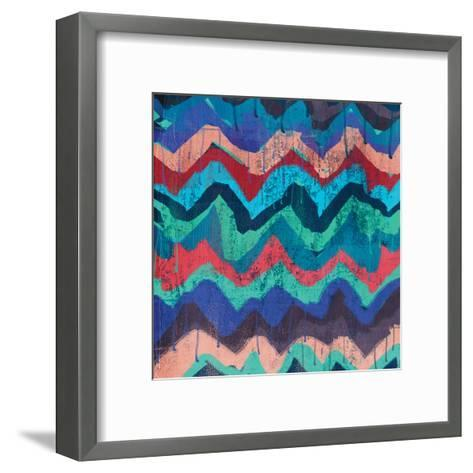 Cool Chevrons A-Cynthia Alvarez-Framed Art Print