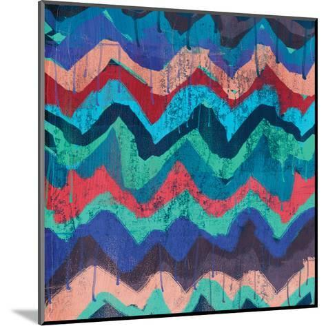 Cool Chevrons A-Cynthia Alvarez-Mounted Art Print