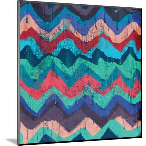 Cool Chevrons B-Cynthia Alvarez-Mounted Art Print