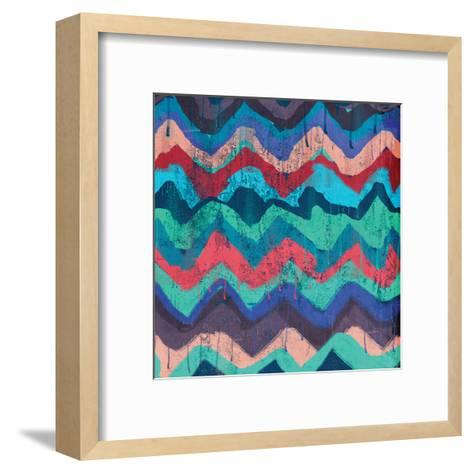 Cool Chevrons B-Cynthia Alvarez-Framed Art Print