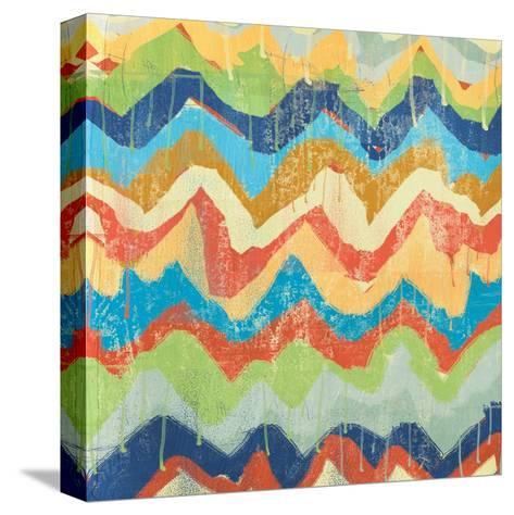 New Chevrons A-Cynthia Alvarez-Stretched Canvas Print