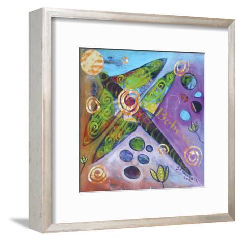 Dragonfly In Bloom-Shannon Crandall-Framed Art Print