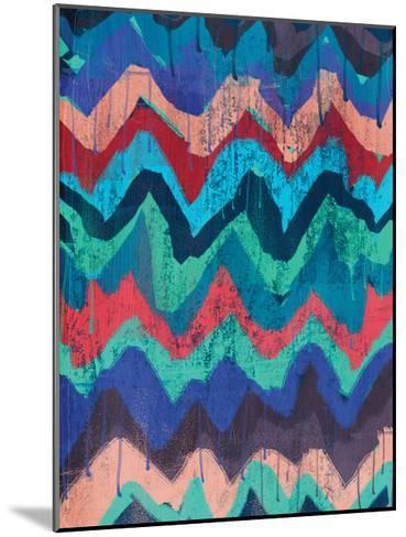 Cool Chevrons 1-Cynthia Alvarez-Mounted Art Print