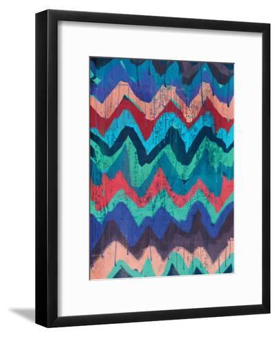 Cool Chevrons 1-Cynthia Alvarez-Framed Art Print