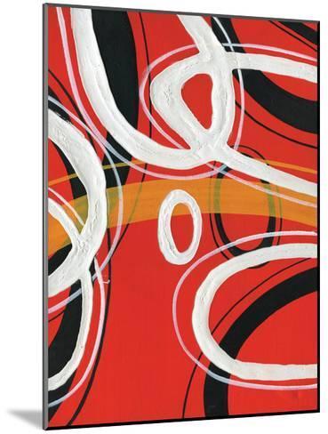 Red Circles 1-Lucas Hunter-Mounted Art Print