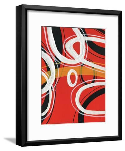 Red Circles 1-Lucas Hunter-Framed Art Print