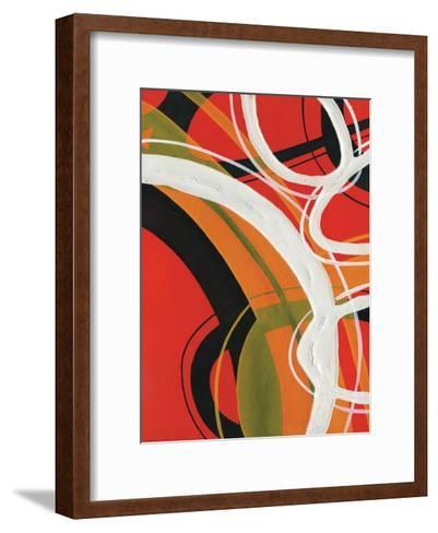 Red Circles 2-Lucas Hunter-Framed Art Print