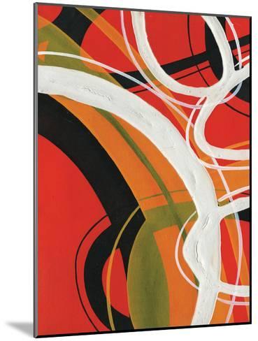 Red Circles 2-Lucas Hunter-Mounted Art Print