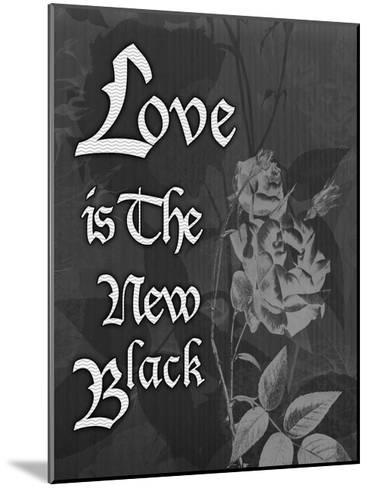 Love And Black-Tony Pazan-Mounted Art Print