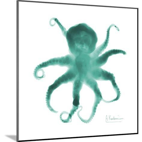 Teal Octopus-Albert Koetsier-Mounted Art Print