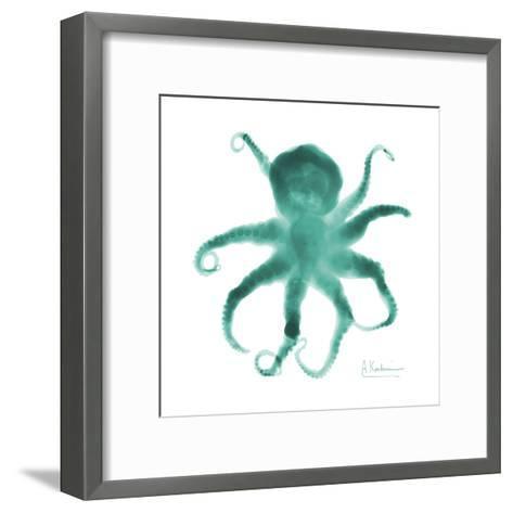 Teal Octopus-Albert Koetsier-Framed Art Print