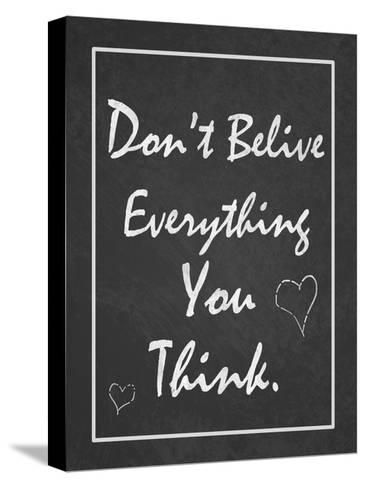 You Think-Tony Pazan-Stretched Canvas Print