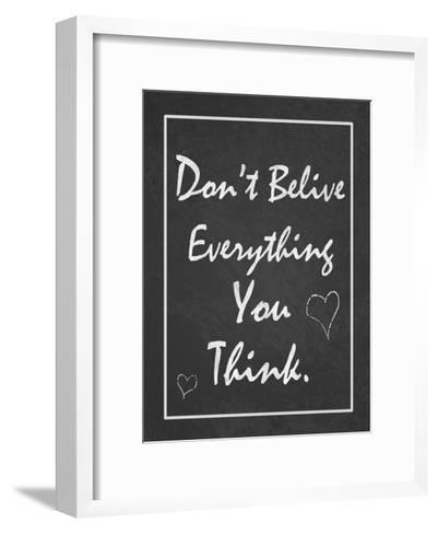 You Think-Tony Pazan-Framed Art Print