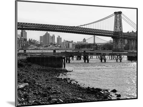 New York City Bridges 1-Sandro De Carvalho-Mounted Art Print