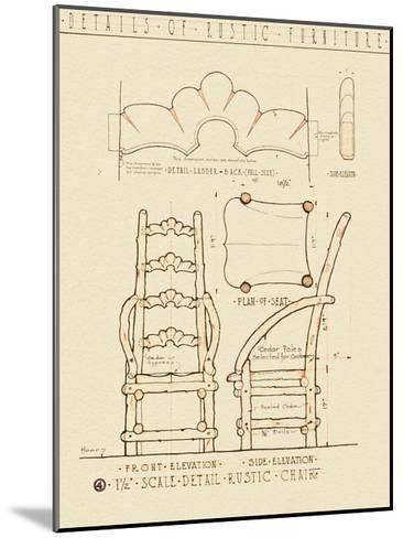 Rustic Furniture 1-Tina Carlson-Mounted Art Print
