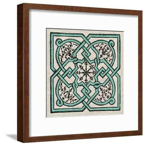 Wood Cut E-Tina Carlson-Framed Art Print