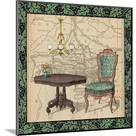 Chair Vignette 1-Tina Carlson-Mounted Art Print