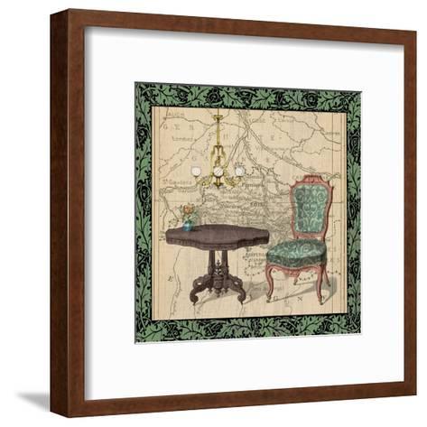 Chair Vignette 1-Tina Carlson-Framed Art Print