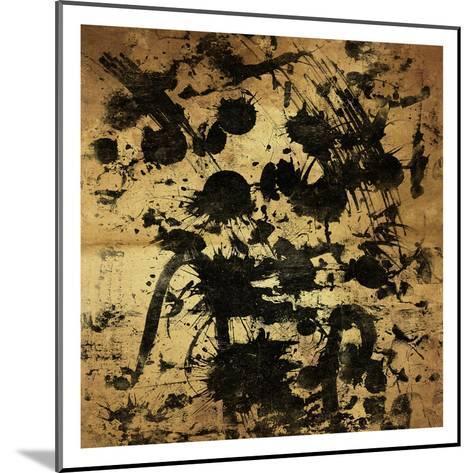 Splatter Gold-OnRei-Mounted Art Print