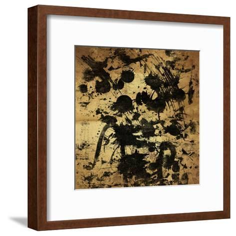 Splatter Gold-OnRei-Framed Art Print