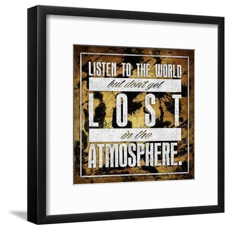 Atmosphere Gold-OnRei-Framed Art Print